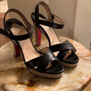 Christian Louboutin  authentic  platform sandals